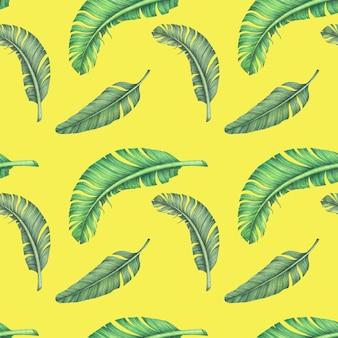 Джунгли пальмовых листьев бесшовный фон