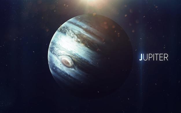 Юпитер - прекрасное искусство высокого разрешения представляет планету солнечной системы