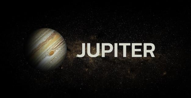 Юпитер на космическом фоне. элементы этого изображения предоставлены наса.