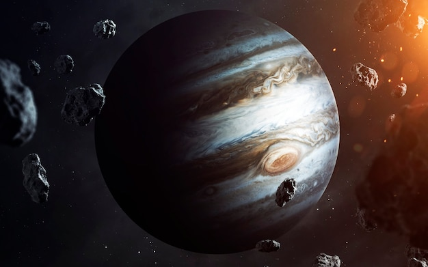 Jupiter. planets of solar system visualisation. elements of this image furnished by nasa
