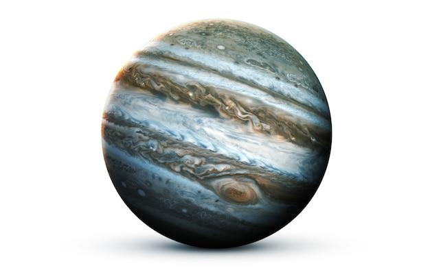 Jupiter in the space, 3d illustration.