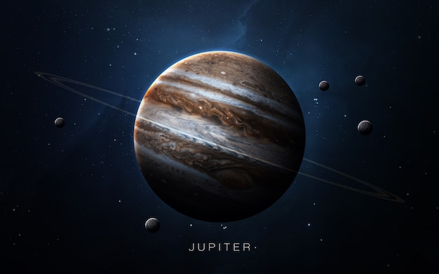 Jupiter in the space, 3d illustration. .