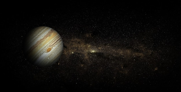Jupiter on space background. elements of this image furnished by nasa.
