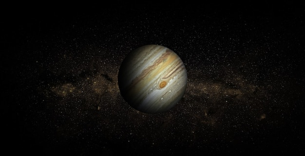 Jupiter in the space