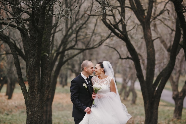 Just married in the field