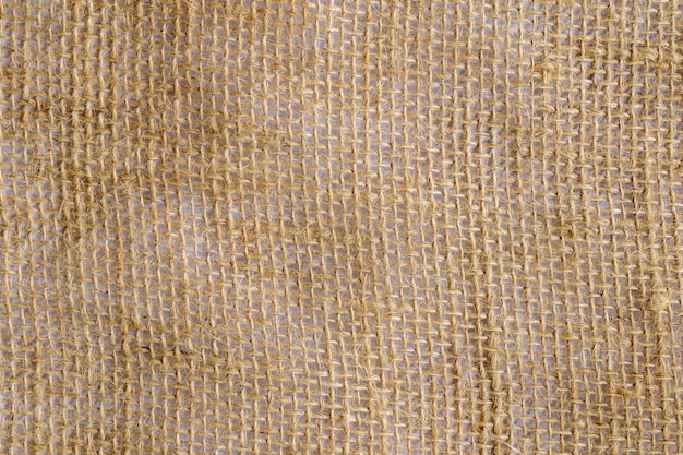 Jute fiber fabric with white background