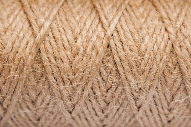 Джутовая веревка. сизаль коричневый веревку естественный фон