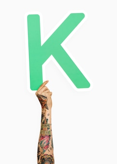 Рука с буквой k