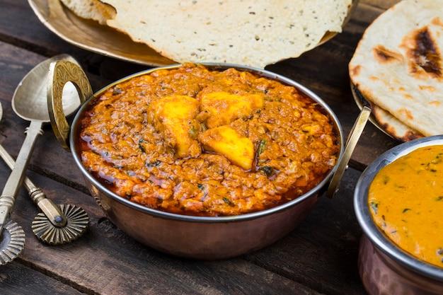 Индийская кухня kadai paneer food
