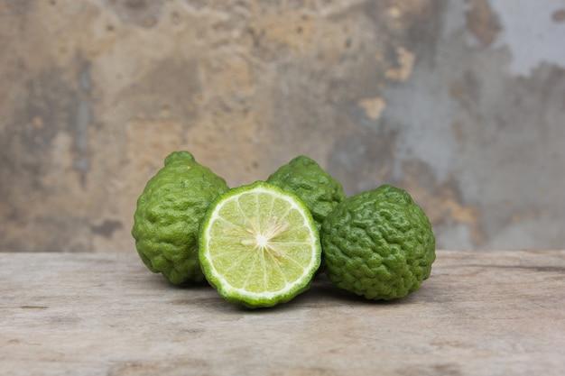 Kaffir lime fruits