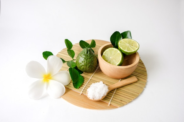 Kaffir lime herb essential oil used in spa
