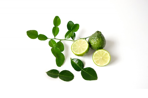 Kaffir lime herb essential oil used in spa.