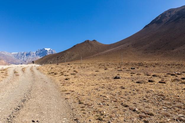 Kagbeniからネパールのmuktinathまでの山道