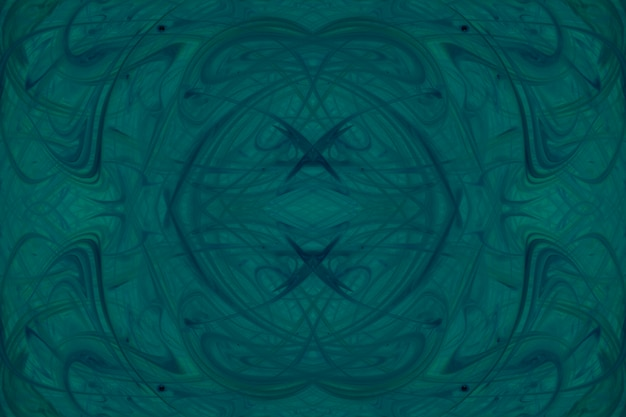 Kaleidoscope green watercolor paint background