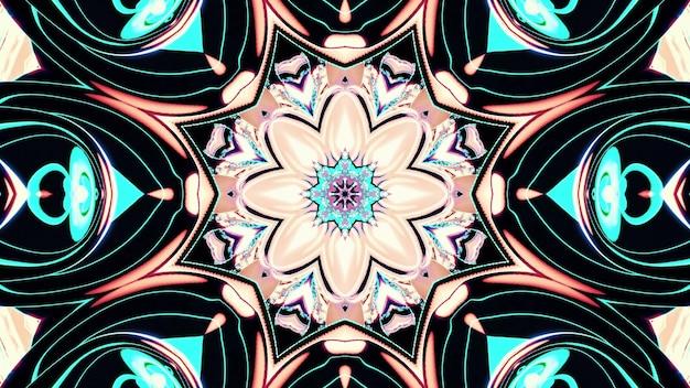 Kaleidoscopic flower design 4k uhd 3d illustration