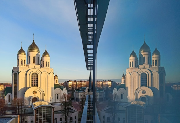 Калининград, россия, март 2021 г. - храм христа спасителя в калининграде
