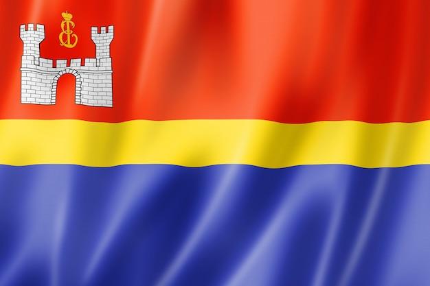 Kaliningrad state - oblast -  flag, russia waving banner collection. 3d illustration