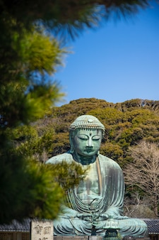 鎌倉大仏と青空