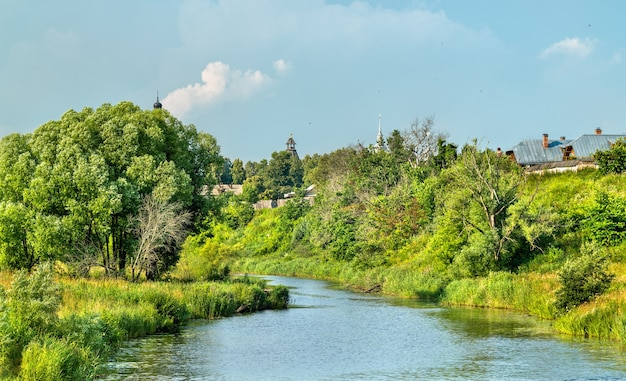 The kamenka river in suzdal, the golden ring of russia
