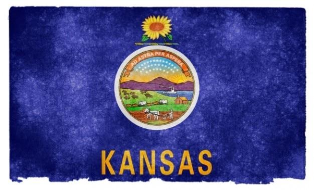 Kansas grunge flag