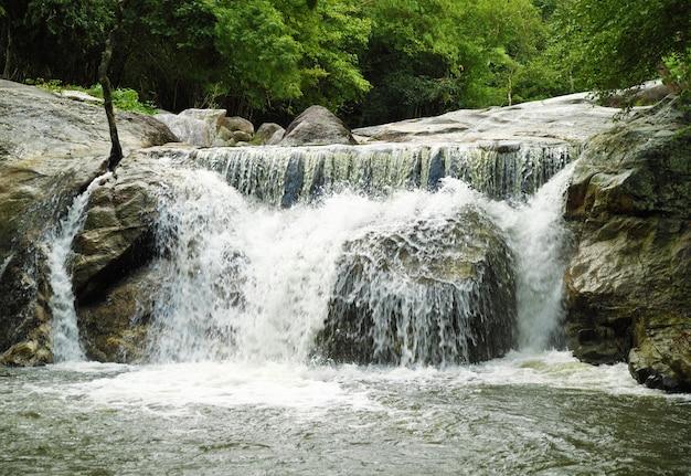 Kao chon waterfall, ratchaburi, thailand