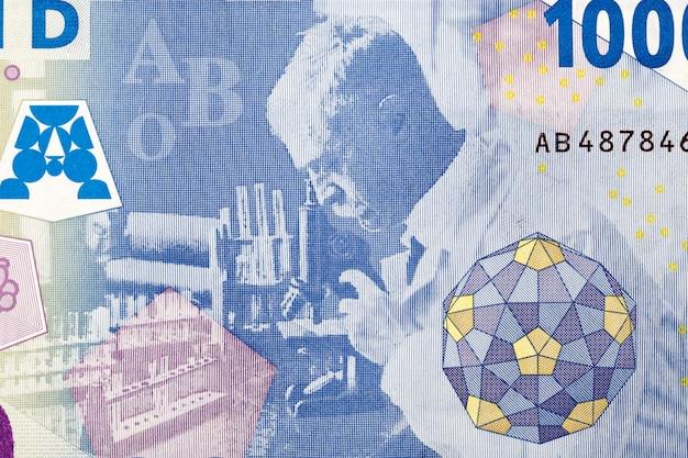 Karl landsteiner working in his laboratory in licenter from money