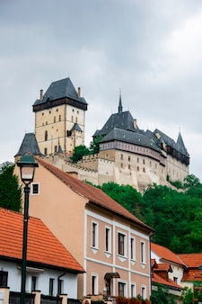Karlstejn is a large gothic castle in czech republic