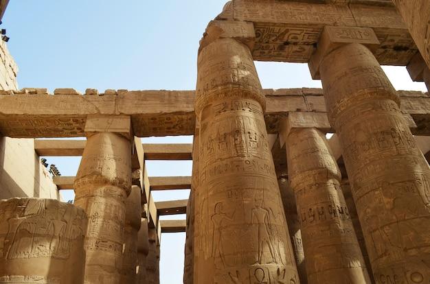 Karnak temple columns