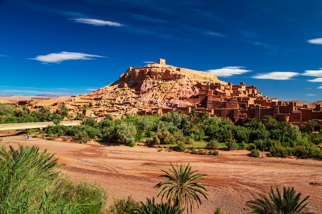 Kasbah ait ben haddou in the atlas mountains.