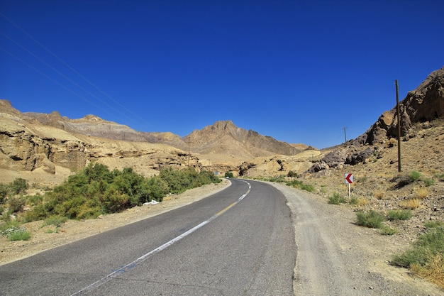 Kashan / iran - 05 oct 2012: road on mountains of iran