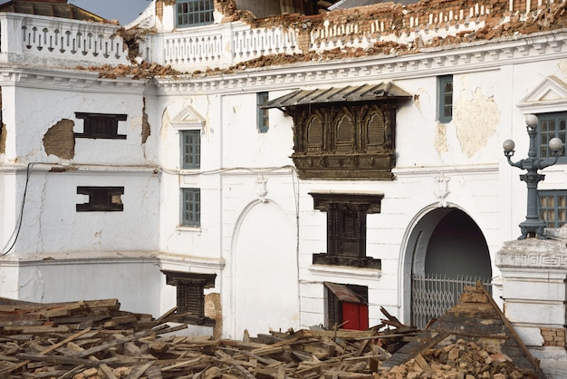 Kathmandu nepal which was severly damaged after the major earthquake