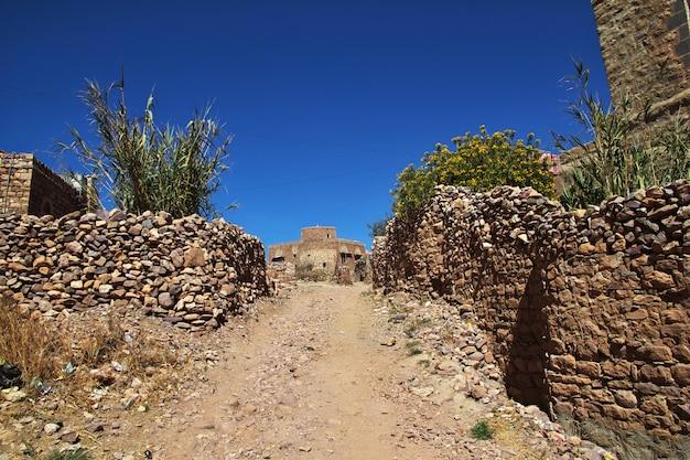 イエメンの山のカウカバン村