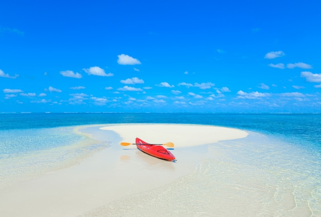 Kayak at the seea in maldives