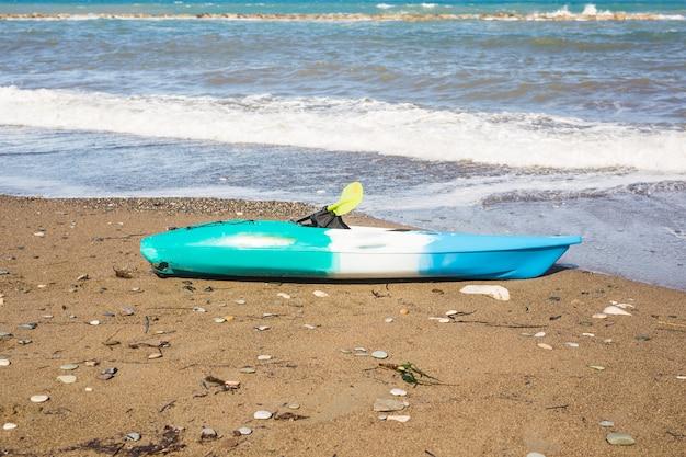 Kayak on the tropical beach.
