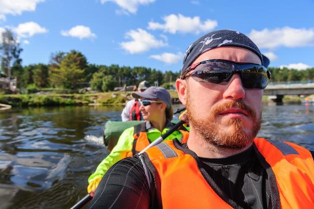 Kayaking in the karelia