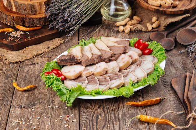 Kazakh national dish horse sausage kazy
