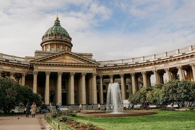 Казанский собор или казанский кафедральный собор в санкт-петербурге