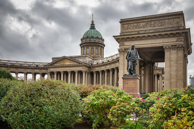 The kazan cathedral st petersburg russia