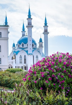 Kazan, russia, august 24, 2019: view of the kul sharif mosque