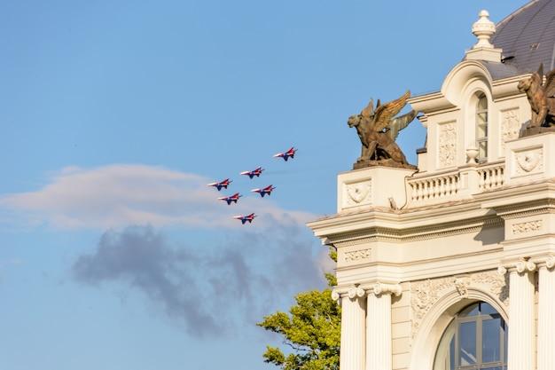 Kazan, russian federation - july 25, 2020: aviation holiday