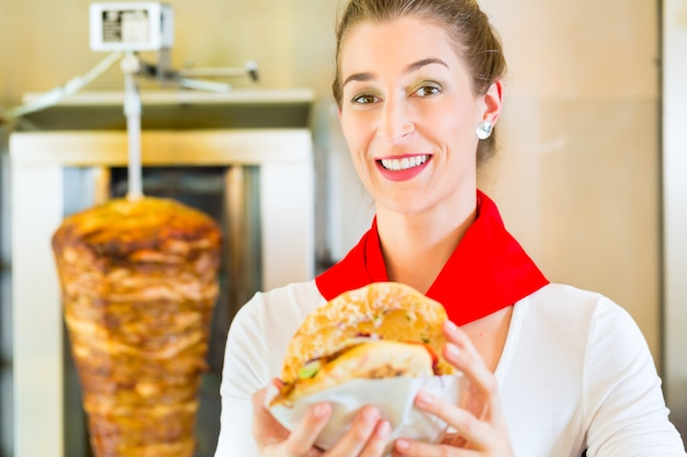 Kebab - hot doner with fresh ingredients