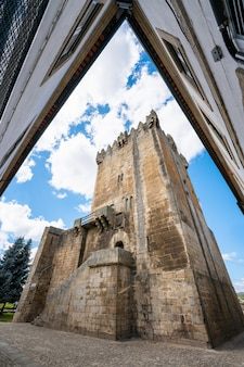 Keep tower castle ruins medieval structureit was built by dom dinis in the 14th century chaves