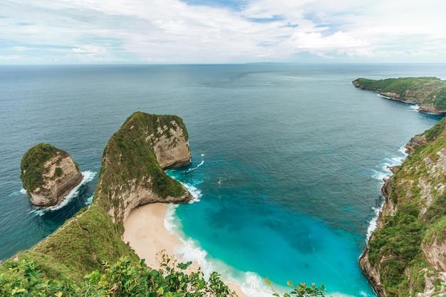 Kelingking beach on nusa penida bali indonesia