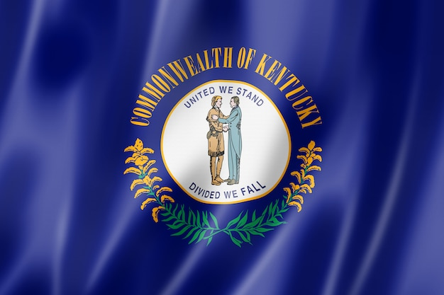 Kentucky flag, usa