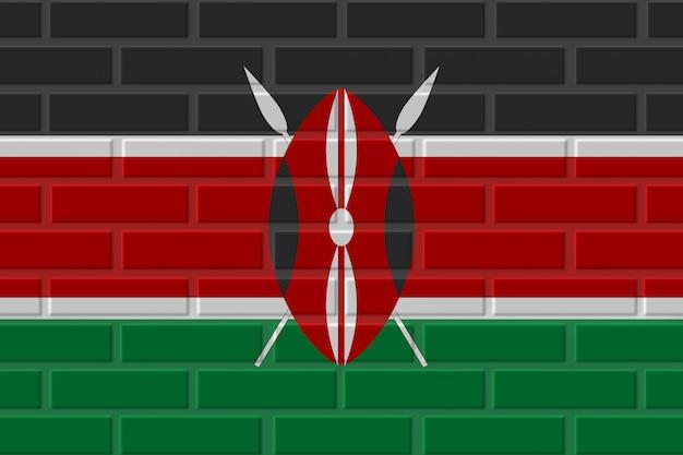 Иллюстрация флага кении кирпича