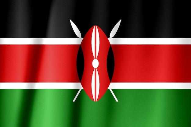 生地の質感にケニアの旗パターン