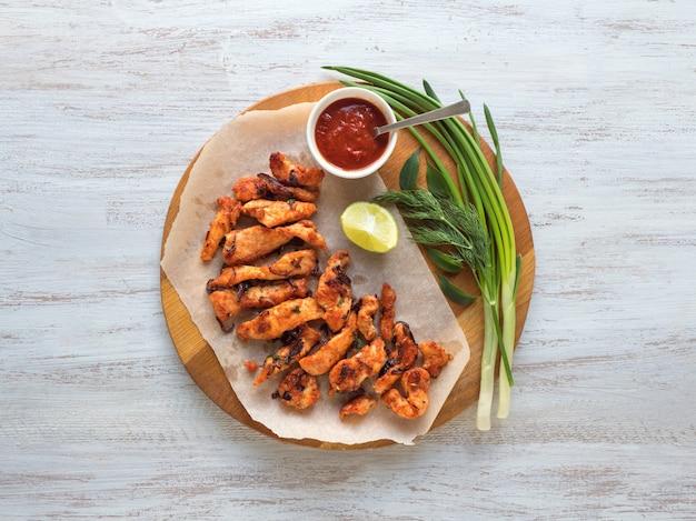 케 랄라 치킨 파코 다. 남쪽 인도 스타일로 준비한 맛있는 파코라.