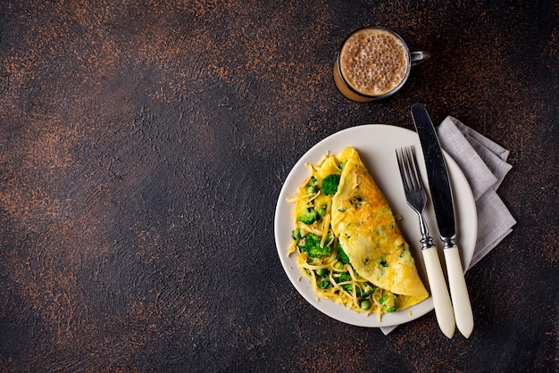 Keto low carb omelet  and bulletproof coffee