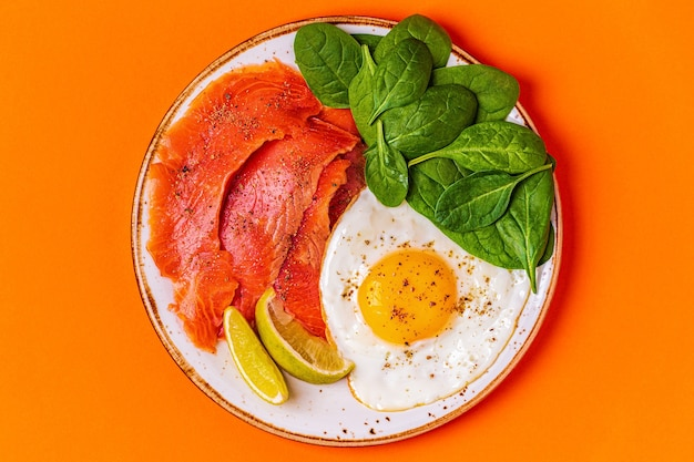 Ketogenic diet food, healthy meal concept, top view, copy space.