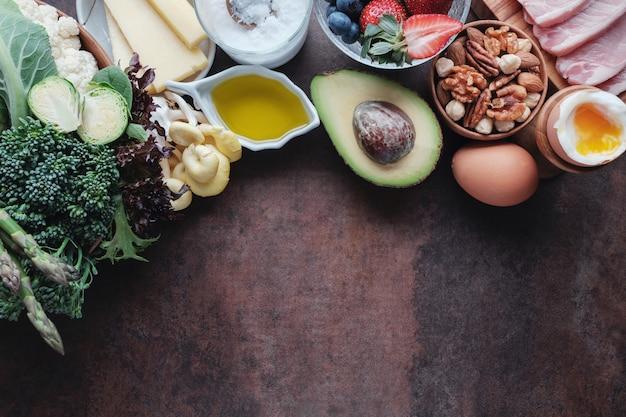 Кетогенная диета, низкоуглеводный, с высоким содержанием жиров, здоровая пища